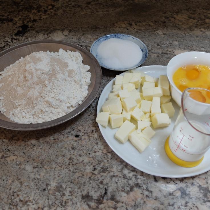 Brioche dough ingredients