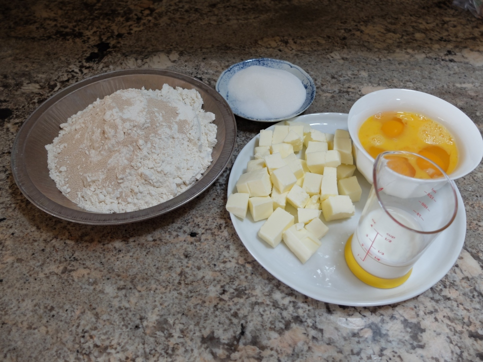 Brioche dough ingredients